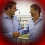 Sergio Massa y Ariel Cholo Ciano en Mar del Plata