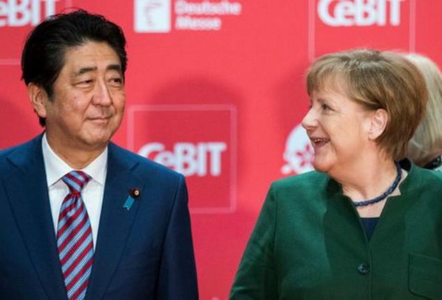 Shinzo-Angela-Merkel-Welcome-Hannover   _MILIMA20170319_0304_11