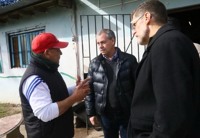 Marcelo Artime por los barrios del sur