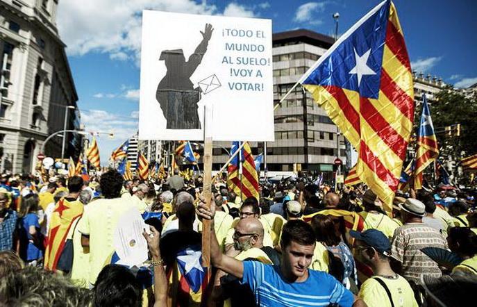 Alberto Di Lolli 11/9/17, Barcelona, Cataluna. Diada nacional de Cataluna, reivindicando el referendum sobre la independencia del 1 de octubre. ///NO UTILIZAR SIN PERMISO DE FOTOGRAFIA ///