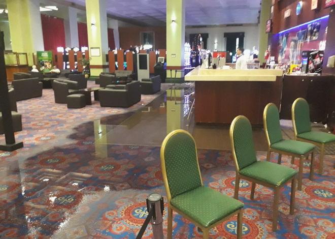 sala inundada