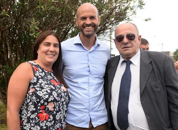 Foto MGP- Carlos Arroyo junto al ministro Dietrich y la secretaria Lopez Menendez