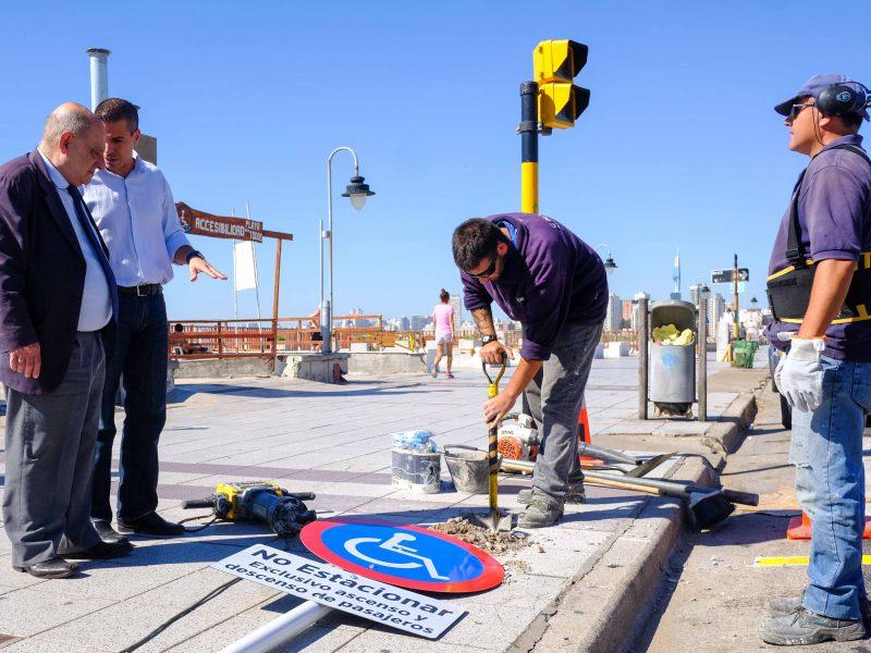 Foto MGP - Trabajos del EMVIAL en la costa y Berutti
