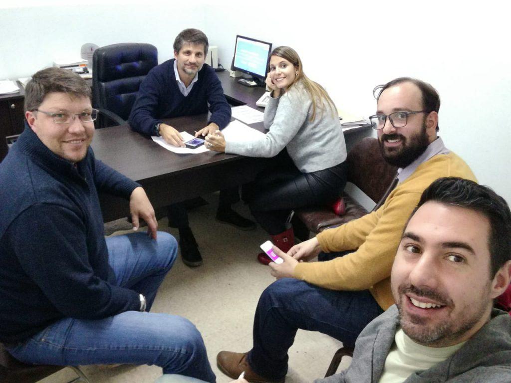 004_Martin Monita con el equipo del concejal Ariel Ciano